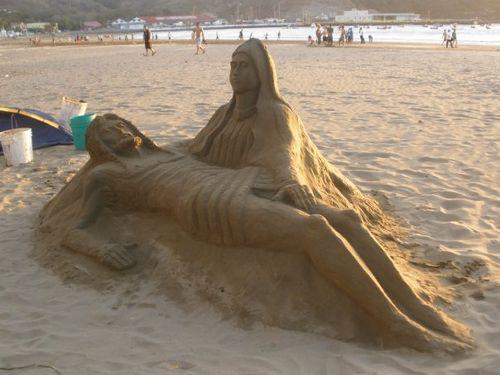San Juan del Sur, Sand Sculpture on beach